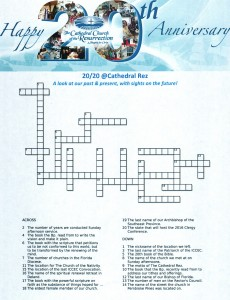 Anniversary crossword